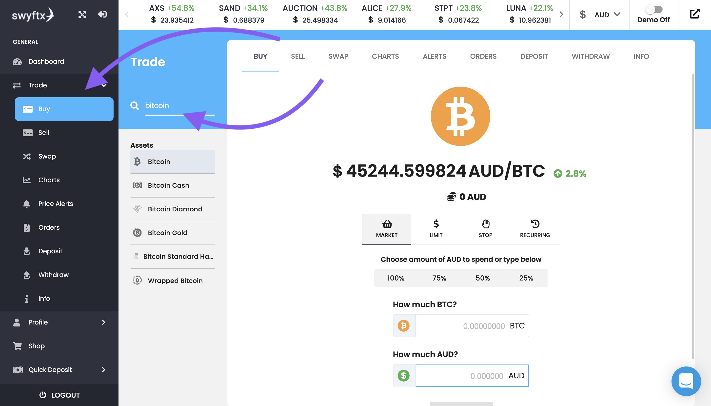 buy bitcoin swyftx