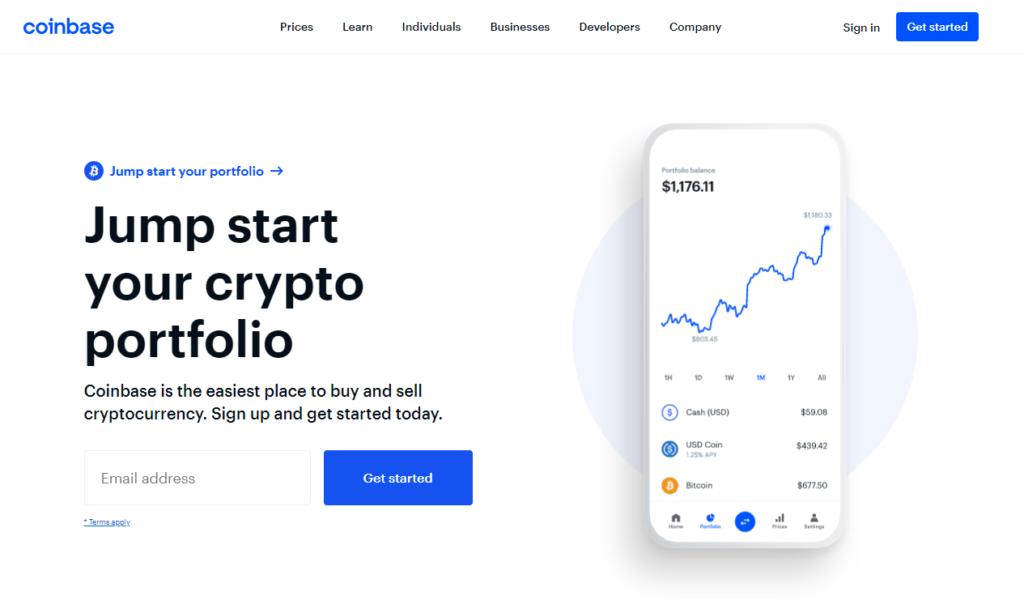 Coinbase - homepage