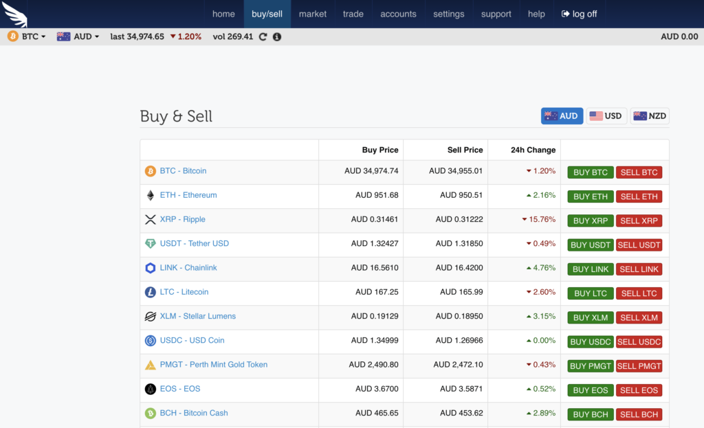 Buy and sell crypto on independent reserve