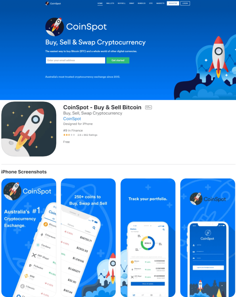coinspot - homepage